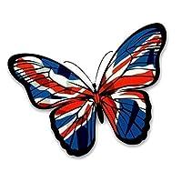 Sticar-it Ltd Beautiful Butterfly Union Jack British Flag Vinyl Car Sticker Decal Small 130x90mm approx.