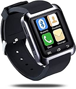 General AUX Touch Bluetooth Watch with Altimeter, Barometer, Padometer, Receive call and make calls through Bluetooth, Bluetooth Camera (Black)