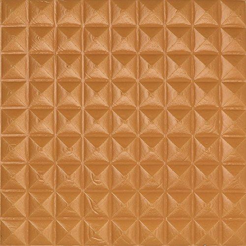 Mimihuhu Mousse 3D PE Autocollant Mural Autocollant Pour Fond De Panneau 3D marron