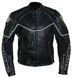 Protectwear WMB-303 Motorrad - Lederjacke, Größe : 54, schwarz