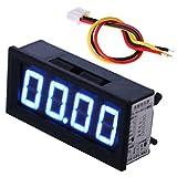 Xurgm Mini 0.56' Digital Voltmeter LED Panelmeter 2 Kabel, Messbereich DC 0-99.99V 100V (Blau)