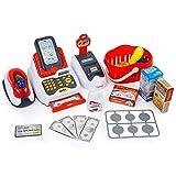 Supermarket Kassenspielzeug, mit Scanner, Kartenleser, interaktives Spielzeug für Jungen und Mädchen, ab 3 Jahren