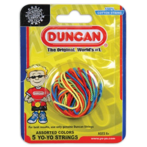 Duncan DUN30021 - Ersatzschnüre für Yo-Yos, 5er Pack, bunt