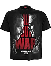 Spiral Men - All Out War - Walking Dead T-Shirt Black