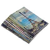 MagiDeal Vintage Landschaftspostkarten Set, Reise Postkarten Grußkarten mit Landschaftsmotiven, Geschenk für Freunde Familien
