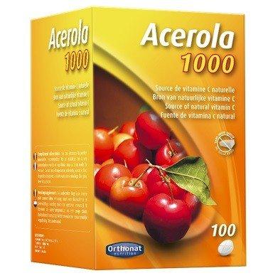 Orthonat - Acerola 1000 mg - 100 comprimés - Riche en vitamine c d'origine naturelle