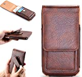 eKing Mobile Belt Holder Leather Pouch case for Men Support up to |