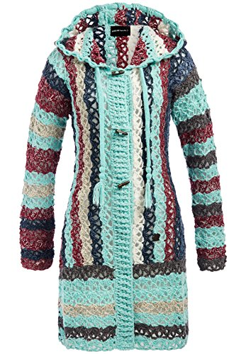 Khujo Laddy W Cardigan aqua (Aqua-strickjacke)