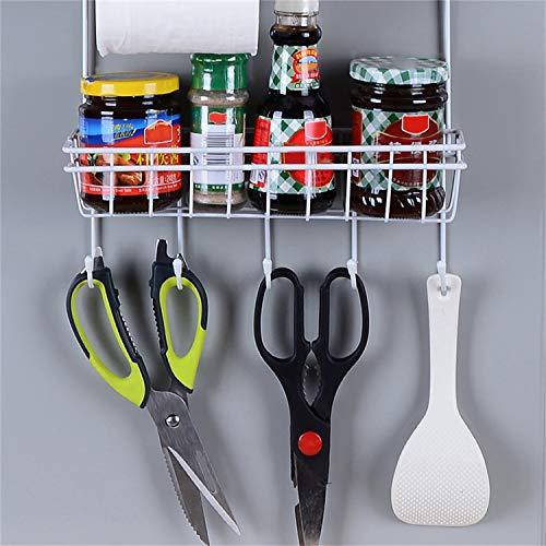 Frigorifero-Rack-Side-Shelf-Supporto-laterale-Multifunzionale-Cucina-Forniture-Organizzatore-Famiglia-frigorifero-a-pi-strati-di-stoccaggio-bianco