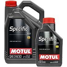 Aceite Motor Motul Specific 913D 5W-30 100% sintético - Service Pack Color 6