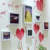 CQSMOO Mauer Skulptur Foto Wand, europäischen Stil Bilderrahmen Wand Foto Wand Kombination Wohnzimmer by (Farbe : White)
