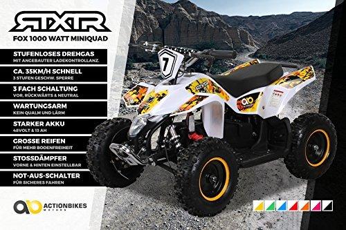 Miniquad Kinder ATV FOX XTR ELEKTRO 1000 Watt Pocket Quad Kinderquad Kinderfahrzeug - Pocket Bike 1000w Elektro
