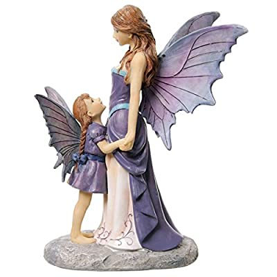 Puckator fyp102 Fairy Tales Lisa Parker Fairy And Her Baby Resin 15 x 13 x 21 cm brown/beige/Purple