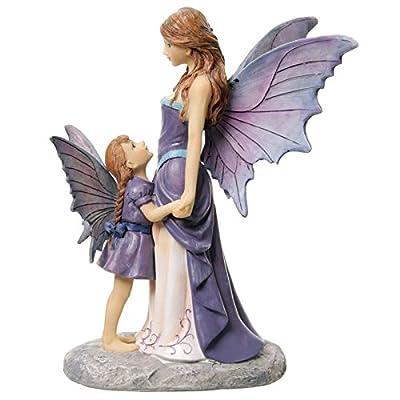 Puckator fyp102Fairy Tales Lisa Parker Fairy And Her Baby Resin 15x 13x 21cm brown/beige/Purple
