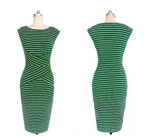 KingField - Robe - Crayon - Sans Manche - Femme Vert - Vert