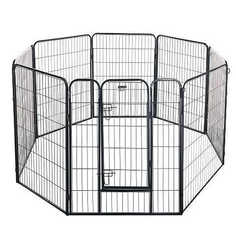 Pet Trex 2345 40 Inch Black Playpen Heavy Duty Playpen for Indoor and Outdoor Use, 40
