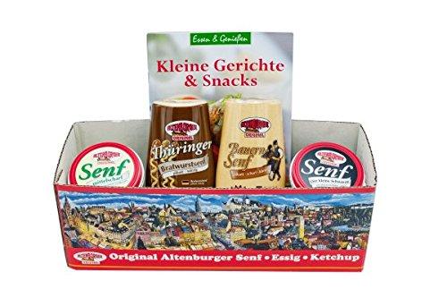 Altenburger Origanl Senf-Set als Geschenidee für Männer und Frauen, Camper-Korb, Präsentkorb, Präsent-Box als Geschenkidee