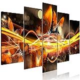 murando Bilder Abstrakt 200x100 cm - Vlies Leinwandbild - 5 Teilig - Kunstdruck - Modern - Wandbilder XXL - Wanddekoration - Design - Wand Bild - Schmetterlinge Beige a-A-0339-b-o