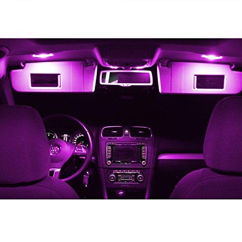 Preisvergleich Produktbild LED Innenbeleuchtung Set für dein Auto - 5730 SMD Canbus plug and play - Lichtpaket erhältlich in weiß blau rot grün gelb pink | pink