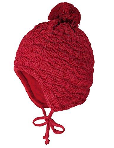 MaxiMo - Mütze, Struktur, Einfarbig, Cappello da bambine e ragazze,  manica lunga, Rosso (Red - Rot (richelieu 6)), Taglia produttore: 47