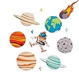 Souarts 11 St Aufnäher Planet Stern Astronaut Kleidung Patch Applikationen zum aufbügeln DIY Aufbügler Set Applikationen