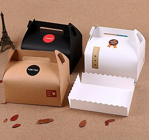 Chilly Boxen, dekorative Geschenk-Box, Set bestehend aus 10Stück, für Kuchen, Cupcakes, Kekse, Schokolade, Tabletts und 37Aufkleber enthalten (3Farben)