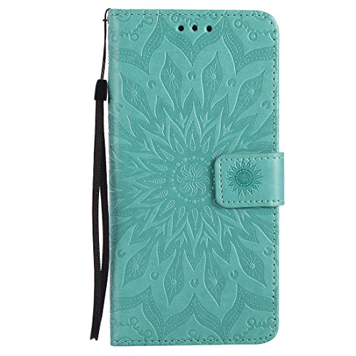 Yaking® Apple iPhone 7 Plus PU Portefeuille Étui Coque Stand Flip Housse Couvrir impression Case Cover vert