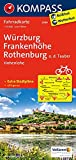 Würzburg, Frankenhöhe, Rothenburg o. d. Tauber, Hohenlohe: Fahrradkarte. GPS-genau. 1:70000 (KOMPASS-Fahrradkarten Deutschland, Band 3098)
