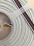Flaches Kabelband für RGBW LED-Streifen, 10m Rolle 5-adrig