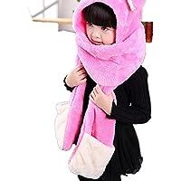 Autunno inverno caldo morbido velluto tre pezzo sciarpa cappello guanto per i bambini , 3