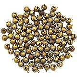 YNuth 100 Piezas de Cascabeles Pequeñas Mini Campanilla de Latón para Decoración de Navidad y Boda o para Fabricación de Joya 10mm de Diámetro