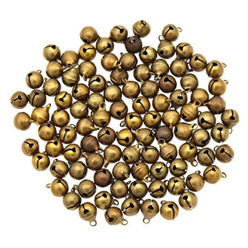YNuth 100x Glöckchen Schellen Anhänger Bronze Schmuckzubehör Durchmesser ()