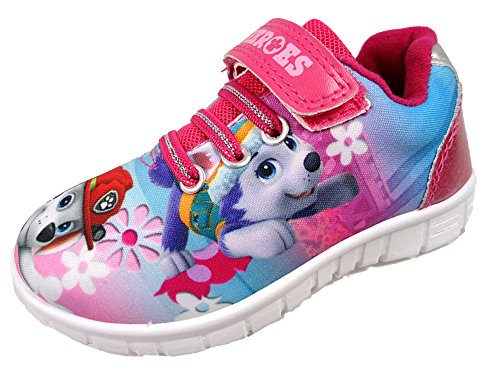 Girls Paw Patrol Summer Printed Trainer Pink Soft Touch Fastening Shoes (Uk 6 Eur23)