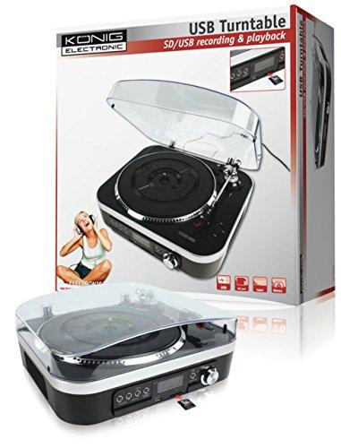 Plattenspieler Vinyl mit Lautsprecher Karte SD USB Konverter MP3 (Plattenspieler Mit Konverter)
