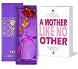 #9: Mothers day special gifts | Gift for mother | Gift for mother in law | Gift for mothers day | Mothers day gifts 24K Gold Plated Rose with Mother's Day Special Greeting card By Tied Ribbons