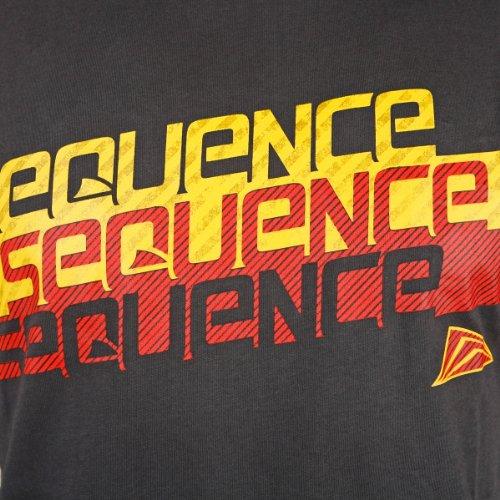 Sequence Dimension Surfer T-Shirt grau   modisch tailliertes Herren Shirt mit Logo Print   100% gekämmte Baumwolle Grau