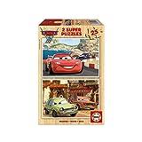 Educa 14935 - 2 x 25 Holzpuzzle - Disney Cars 2