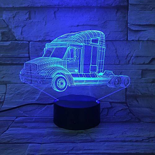 Zcmzcm 3D Nachtlichter Schwere Lkw Nachtlicht Auto Lampe Usb 7 Farben Ändern Touch-Schalter Led Indoor Schlafzimmer Lampe Party Dekor Lampe Kid Day Geschenke - Jungen Wie Lkw-lampe
