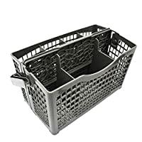 Fotica Dishwasher Basket, Universal Clean Dirty Magnets Sign Utensil Cutlery Holder Storage with Folding Handle