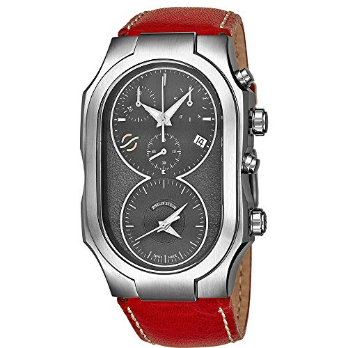 Philip Stein Men's Signature Red Leather Band Swiss Quartz Watch 300SDGCSTR