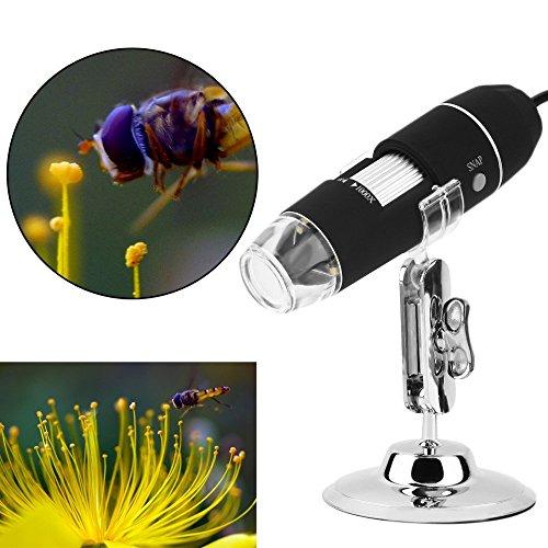zhenrong 20–1000x mignification USB Digital Mikroskope Vergrößerungsglas Lupe 8LED 2.0MP Kamera Objektiv für Windows/Linux/MacBook/Vista