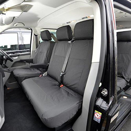 Black UK Custom Covers SC163 Tailored Front Seat Cover Sleek Fit