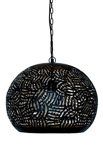 Emporio Arts lzc-648 a-bg Panier Zebra gravure Lampe à suspension abat-jour, fer, noir à l'intérieur or, E27, 40 Watts
