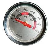 Music City Metals 00018 Temperaturanzeige für Gasgrills der Marken Blooma/Landmann/Outback und Weber - Mehrfarbig