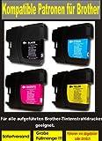 12 kompatible Patronen ( 3x bk, cy,ma,ye ) für diese Brother-Drucker: Brother DCP-145C ; DCP-165C ; DCP-185C ; DCP 385C ; DCP-535CN ; DCP-585CW ; DCP-6690CW Brother MFC-250C ; MFC-290C ; MFC-490CN ; MFC-670CD ; MFC-790CW ; MFC-990CW ; MFC-5490CN ; MFC-5890CN ; MFC-930CDNW ; MFC-6490W ; MFC-6890CW