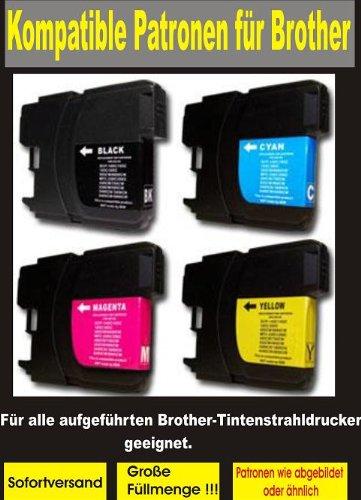 Preisvergleich Produktbild 5 Patronen für BROTHER kompatibel zu LC 980/1100 bk / c / m / y. Passend zu folgenden Geräten:Brother DCP-145C DCP-165C DCP-195C DCP-365CN DCP-375CW MFC-250c MFC-255CW MFC 290c MFC-295CN. Sie erhalten 10 Patronen 2 x schwarz + je 1 x cyan/magenta/yellow.