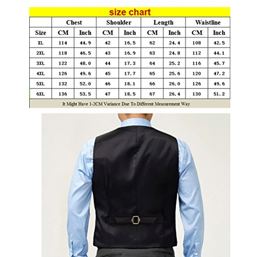 Zhhlaixing Moda Mens Slim Fitted Vest Waistcoat Plus Large Size Provide /Size XL-6XL Black