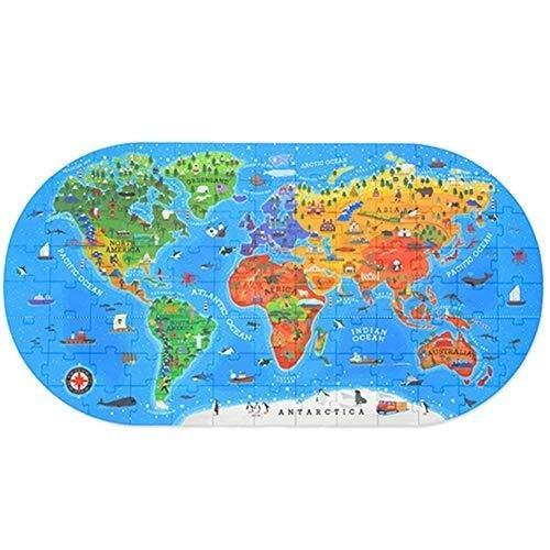 CattleBie 100 Pezzi di Geografia Umana Puzzle Mondiale, Puzzle for Bambini Puzzle Giocattolo educativo Giocattoli educativi for la Prima Infanzia, Scatole Regalo Portatili (Color : Multi-Colored)