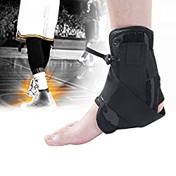 Generic Large : Sport Health Care Tool Adjustable Ankle Brace Lateral Palettes Protector Support Stabilizer Black S/M/L