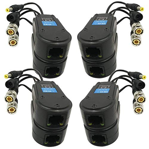 Yiwa HD Koaxial Twisted Pair Transmitter Video Power Supply 2 in 1 Monitoring Netzwerk Kabel zu BNC Adapter
